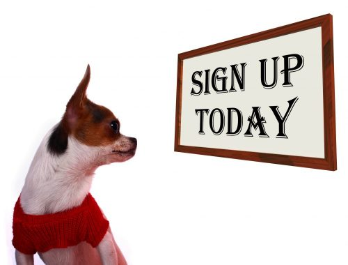 Sign Up Today Sign Shows Registration For Dog Website